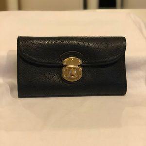 Louis Vuitton Black Monogram Mahina Wallet